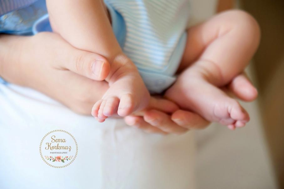 Florance Nightingale doğum fotoğrafları: Kerem bebeğin ayakları. Fotoğraf: Sema Korkmaz