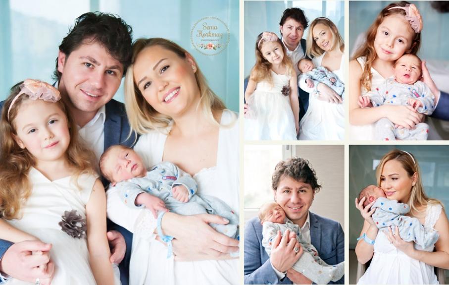 İkinci gün fotoğraf çekimi. Aile Fotoğraf çekimi. Yer: Memorial Şişli Hastanesi