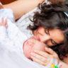 Altunizade Acıbadem Hastanesi doğum fotoğrafları: Okan Bebek ve Annesi