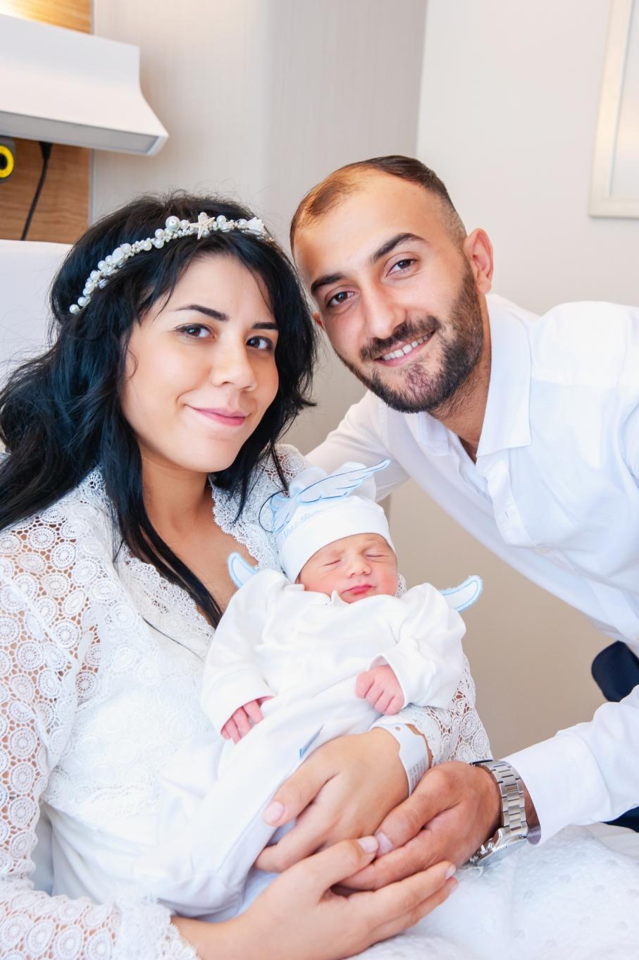 Florance Nightingale Hastanesi doğum fotoğrafları - doğum sonrası aile portresi